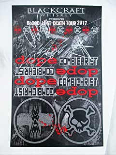 2017 Dope Band Signed Autographed Concert Poster Blood Lust Death Tour CombiChrist