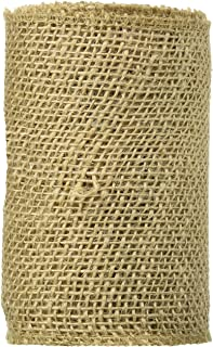 DARICE 2914-042 240gm Burlap Ribbon, 6-Inch by 5-Yard, Natural