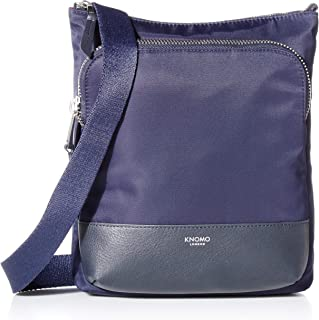 "Knomo Mayfair Capsule Carrington, 10"" Mini Cross-Body Bag, with Device Protection, RFID Pocket and KNOMO ID, Dark Navy"
