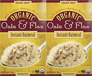 Trader Joe's Organic Oats and Flax Instant Oatmeal, 11.29 Ounce, (Pack of 2)