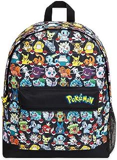 Pokemon Mochilas Escolares, Mochila Niño con Pikachu, Pokeball Y Pokémons, Mochila Infantil para Colegio Deporte Viajes, R...