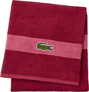 Lacoste Logo Bath Towel, 100% Cotton, 650 GSM, 30