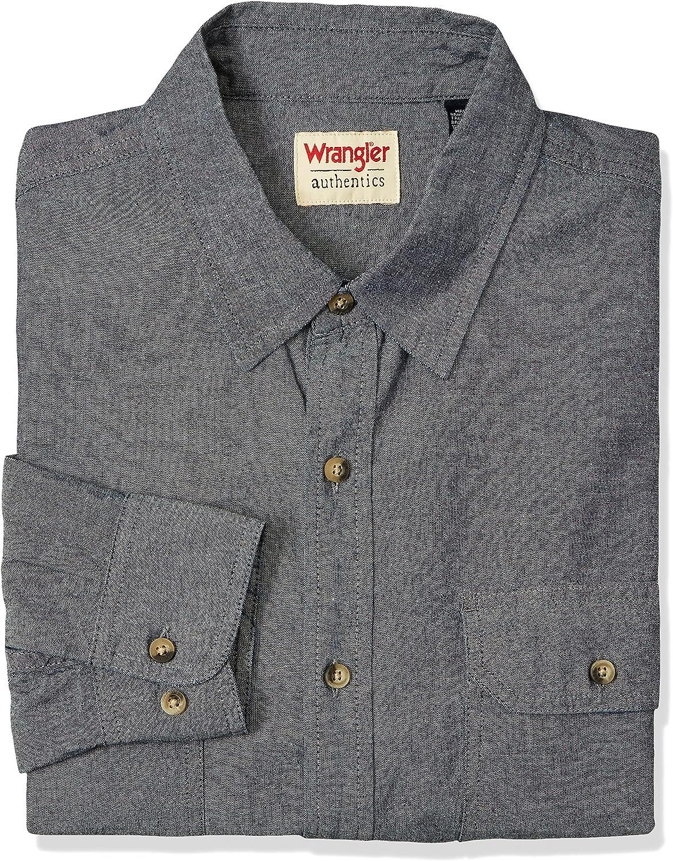 Ranking TOP1 Wrangler Authentics Men's Long Sleeve Classic Woven 2021 Shirt