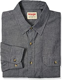 Wrangler Mens Authentics Long Sleeve Classic Woven Shirt