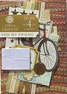 Anna Griffin Card Kit | For My Friend | Masculine Vintage (SB716) | Makes 4