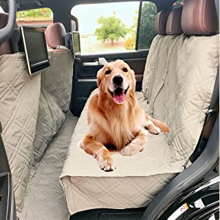 Deluxe Quilted and Padded Dog Car Seat Cover with Non-Slip Back Best for Car Truck and SUV - Make Travel with Your Pet Always an Option - 3 Sizes and Colors (Black, Grey, Taupe)