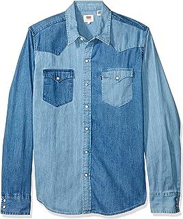 Camisa Levis Masculina Jeans Classic Western Azul Média 92ab74cd6c203