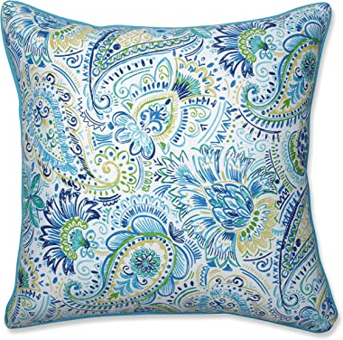 "Pillow Perfect Outdoor/Indoor Gilford Baltic Floor Pillow, 25"" x 25"", Blue"