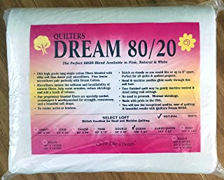 "Quilter`s Dream 80/20, Natural, Select Loft Batting - Queen Size 108""X93"""