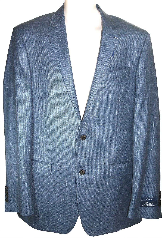 Ralph Lauren Men's Suit Jacket Blue Wool Silk Blazer, 42 Long