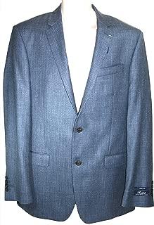 Men's Suite Jacket Blue Wool Silk Blazer, 42 Long