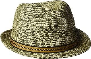 Henschel 男士可裂软呢帽带编织条纹