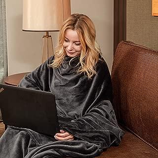 wearable fleece blanket for adults