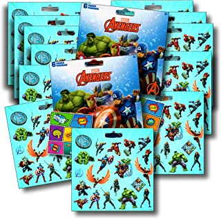 Marvel AVENGERS Stickers Party Favors Bundle of 12 Sheets over 240 Stickers plus Large Specialty Stickers