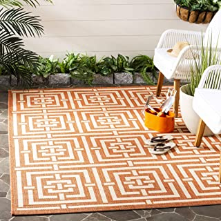 Safavieh Courtyard Collection CY6937-21 Terracotta and Cream Indoor/ Outdoor Area Rug (4' x 5'7