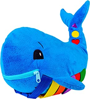Buckle Toy - Blu Whale - Learning Activity Toy - Develop Motor Skills and Problem Solving - Counting and Color Recognition...