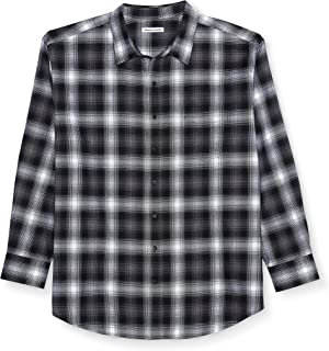 Men's Big & Tall Long-Sleeve Plaid Flannel Shirt fit by DXL