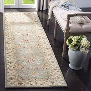 Safavieh Antiquities Collection AT822A Handmade Traditional Oriental Grey Blue and Beige Wool Runner (2'3