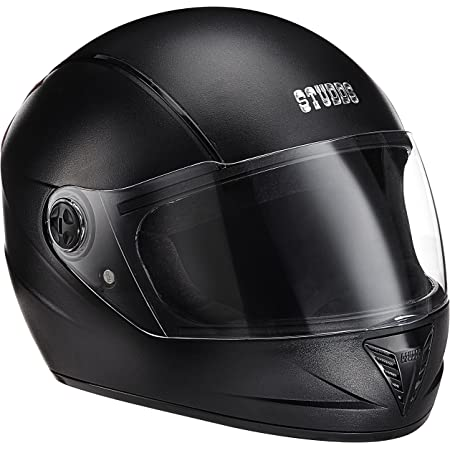Studds Professional Black With Black Strip Full Face Helmet (L)
