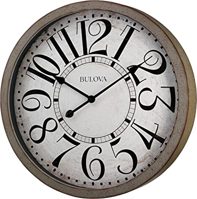 Bulova C4815 Westwood Wall Clock, Antique Grey