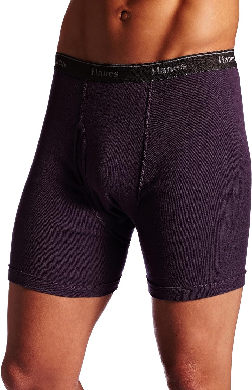 Hanes Ultimate Men's 4-Pack Classic Comfort Flex Waistband Cotton Boxer Brief Underwear