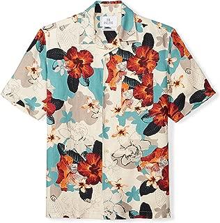 28 Palms Amazon Brand Men's Relaxed-Fit Silk/Linen Tropical Hawaiian Shirt