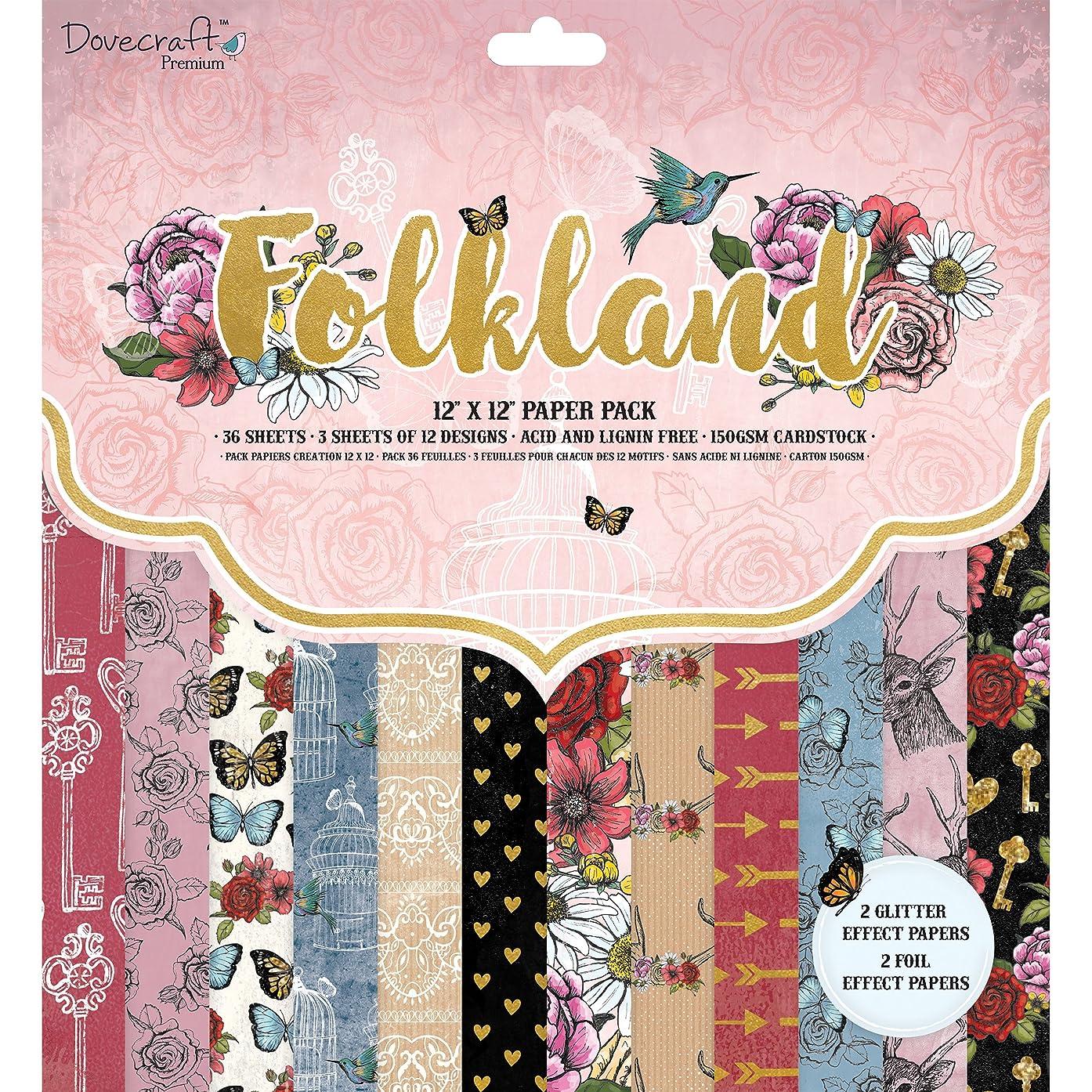 Dovecraft Premium Folkland - Paper Pack 12