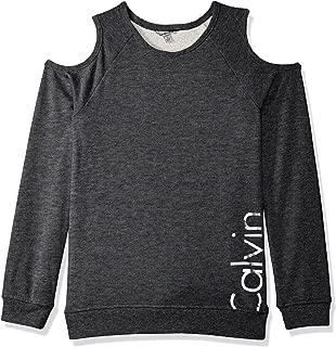 Calvin Klein 女童标志露肩运动衫