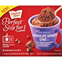 Duncan Hines Perfect Size for 1 Mug Cake Mix, Ready in About a Minute, Chocolate Lover's Cake, 4 Individual Pouches
