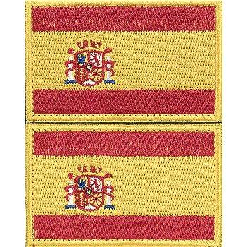 Parche España 2 x Parches Velcro España Español Bandera Táctico bandera con velcro podría ser pegado a la ropa, chaleco, gorra, mochila: Amazon.es: Hogar