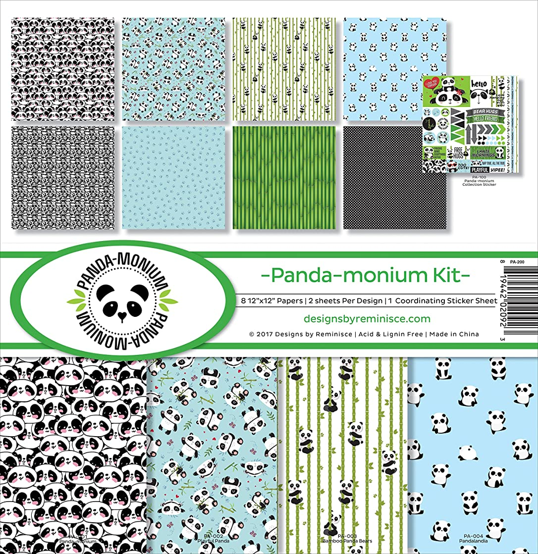 Reminisce PA-200 Panda-monium Scrapbook Collection Kit