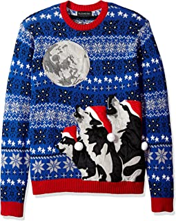 Men's Ugly Christmas Sweater Wolf