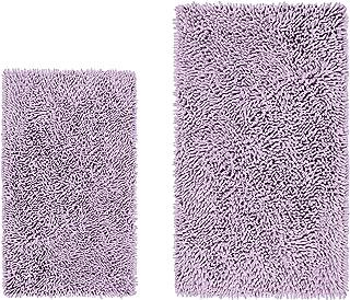 LuxUrux Bathroom Rug Set–Extra-Soft Plush Bath mat Shower Bathroom Rugs,1'' Chenille Microfiber Material, Super Absorbent. (Rectangular Set, Lavender)