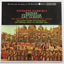 Giovanni Gabrieli: Sacrae Symphoniae and Canzoni (The Bach Guild)
