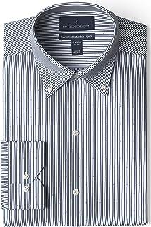 Buttoned Down Mens Tailored Fit Button Collar Pattern Dress Shirt