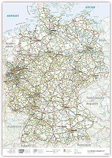 Deutschland Karte Autobahnen Und Städte.Suchergebnis Auf Amazon De Für Deutschlandkarte