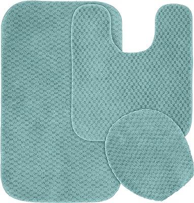 Amazon Com Ben Jonah Simple Elegance By Ben Jonah 18 X 30 1 Contour Mat 1 Toilet Seat Cover Apx 18 X 18 Neon Pink 3 Piece Bath Rug Set Home Kitchen