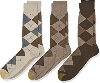 Gold Toe Men's Carlyle Argyle Crew Socks, 3 Pairs