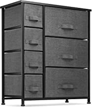 7 Drawers Dresser - Furniture Storage Tower Unit for Bedroom, Hallway, Closet, Office Organization - Steel Frame, Wood Top...