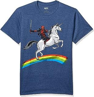 Marvel Deadpool Riding A Unicorn On A Rainbow T-Shirt