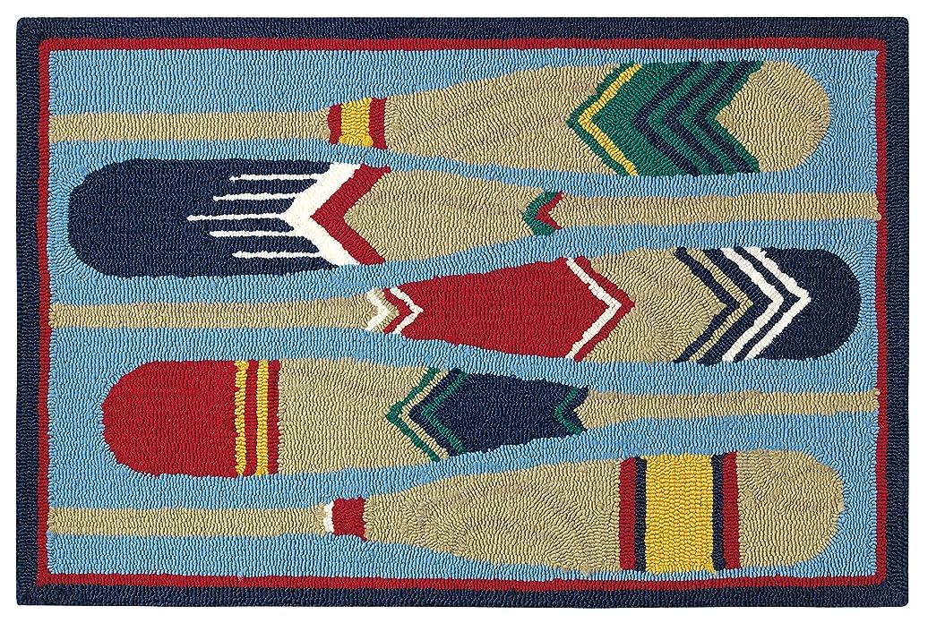 先住民忌避剤手紙を書くCompany C パドル アクセントラグ 2 x 3フィート エリア ブルー