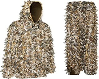 Auscamotek 3D Leafy Ghillie Suit for Hunting Airsoft Bird Watches Sizes and Colors Available