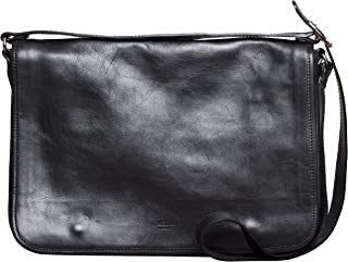 Messenger Bag by I Medici That are Directly Imported from Italy Black Leather 5700