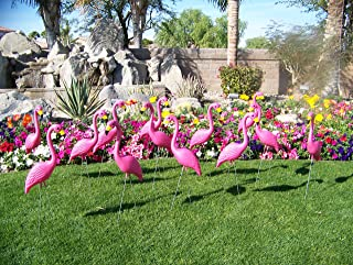 30 Pink Yard Flamingos, Pink Flamingo Yard Ornaments