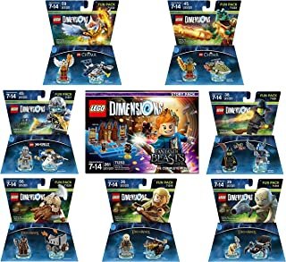 Fantastic Beasts Story Pack + Lord Of The Rings Legolas Gimli Gollum + The Legend Of Chima Eris and Cragger + The Wizard Of Oz + Ninjago Zane Fun Packs - LEGO Dimensions - Not Machine Specific