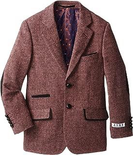 AXNY a.x.n.y Big Boys' Wool-Blend Tweed Blazer Jacket