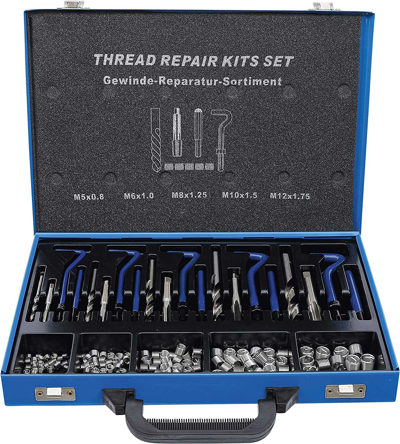 BGS 1950 Thread Repair Kit Silver Tampa Mall of Blue Size Set Raleigh Mall 130 M5-M12