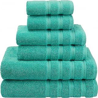 American Soft Linen, 100% Turkish Cotton 6 Piece Towel Set, Absorbent, Durable, Soft & Fluffy, Hotel & Spa Bathroom Towel...