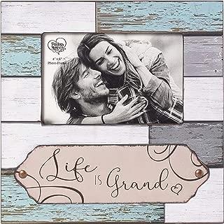 Precious Moments Farmhouse Decor Life Is Grand Wood/Glass 5 x 7 Photo Frame 189908