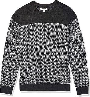 Goodthreads Amazon Brand Men's Merino Wool/Acrylic Crewneck Herrinbone Sweater